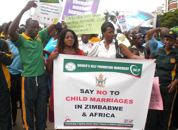 Zimbabwe WSPM March to End Child Marriage 2016