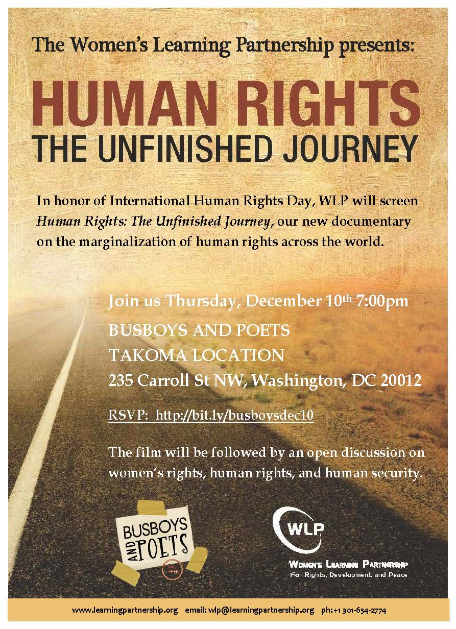 Film Screening Human Rights: The Unfinished Journey at Busboys and Poets