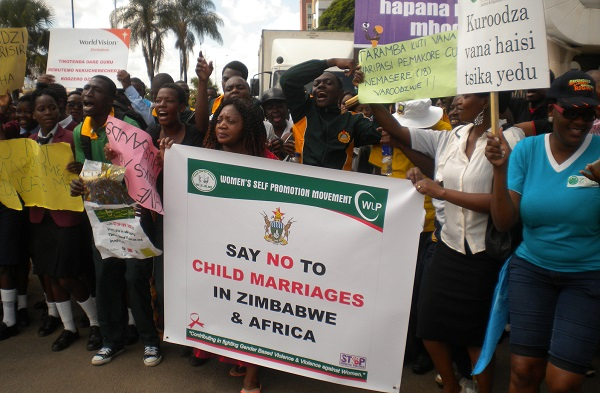 March to End Child Marriage Zimbabwe 2016