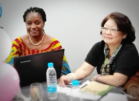 Joy Ngwakwe and Betty Yeoh